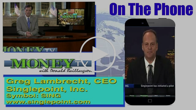 Singlepoint Discusses Audit Progress- MoneyTV with Donald Baillargeon