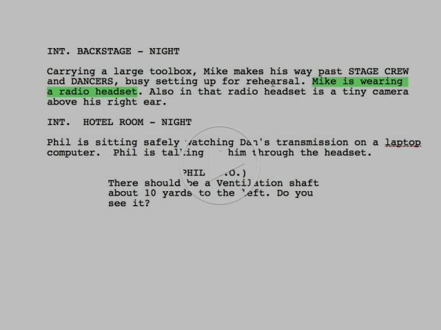 Writing better scene description