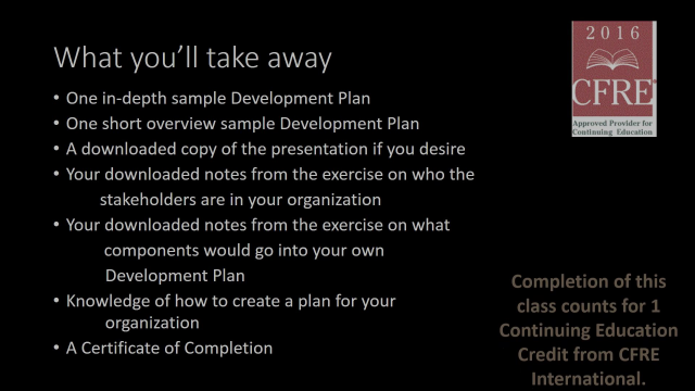 Fundraising With a PLAN Promo