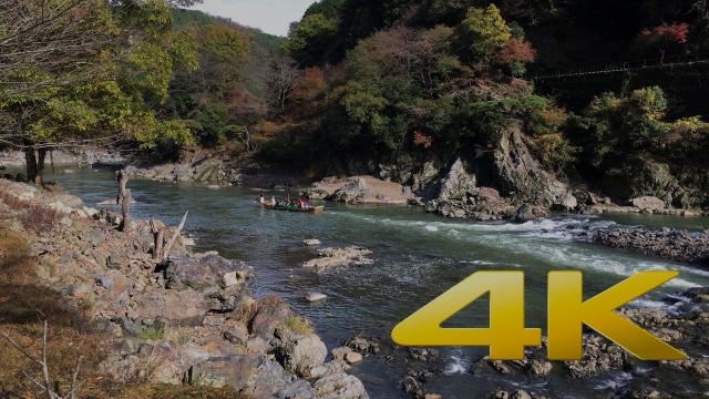 Kyoto Kameoka Hozugawa River Boat Ride - 保津川下り- 4K Ultra HD