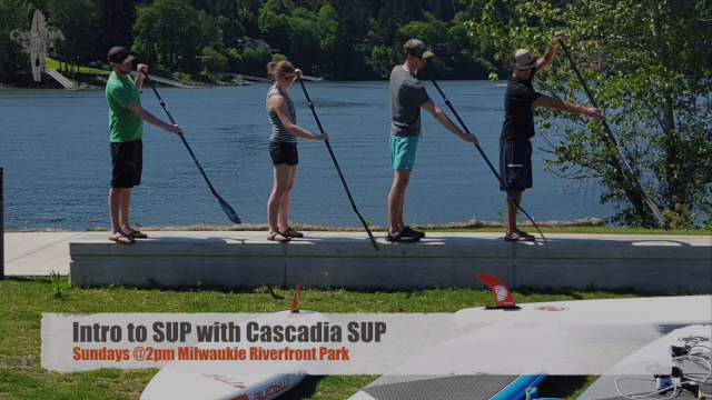 Intro to SUP with @CascadiaSUP