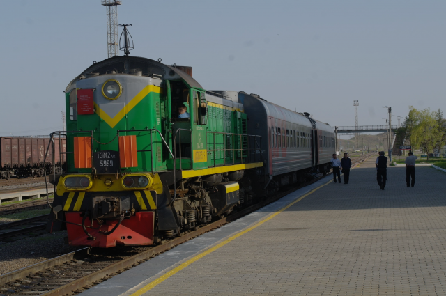 Train from North Korea to Russia