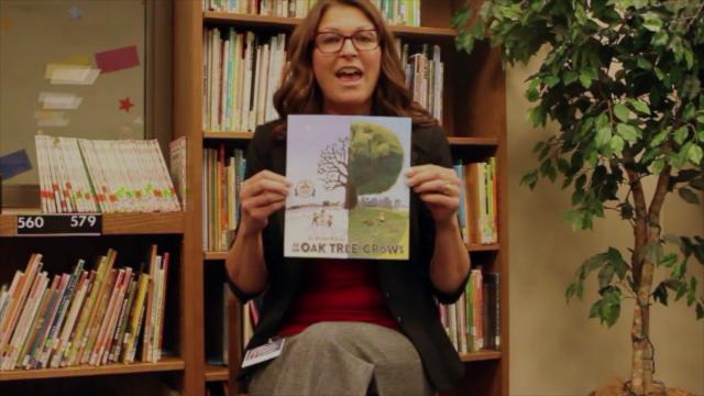 """Kara Miller Reads """"As an Oak Tree Grows"""" by G. Brian Karas."""