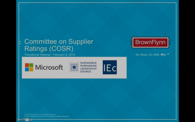 Enterprise-level supplier ratings: The potential application of investor-developed ESG ratings systems to purchasing