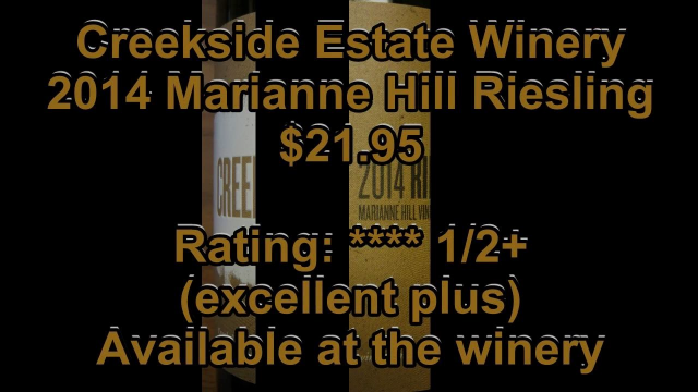 Ontario Wine Review Video #182: Creekside 2014 Marianne Hill Riesling
