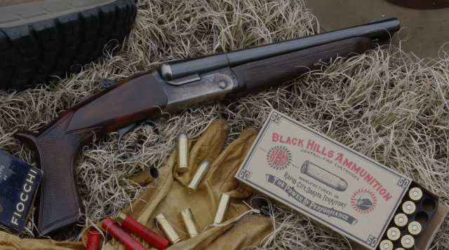 IFG's Howdah Double Barrel .45 Colt/.410 pistol shotgun by Pedersoli