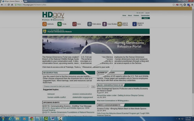 U.S. Fish and Wildlife Service HDgov Resource Portal Tutorial