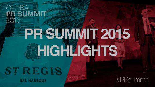Global PR Summit & SABRE Awards 2015 Highlights Reel