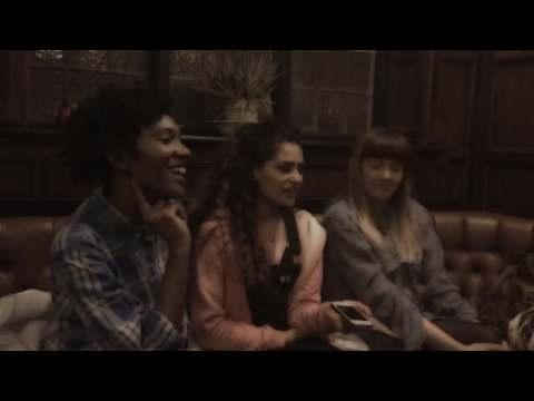 LOUD WOMEN meet The Tuts - interview backstage at London2Calais fundraiser, 28 April 2016