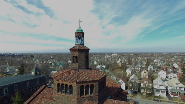 Above Blessed Trinity Church