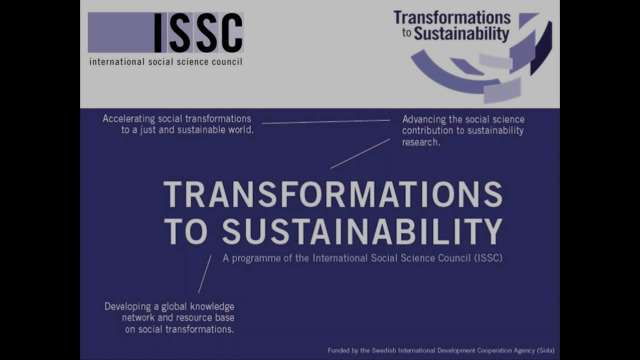 Transformations to Sustainability webinar