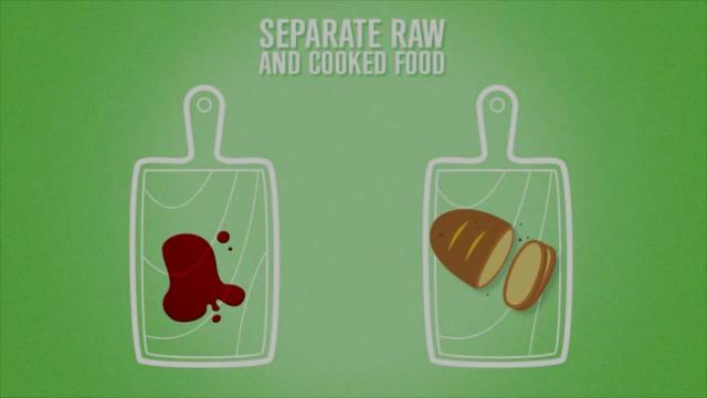 Pet korakov do varne hrane