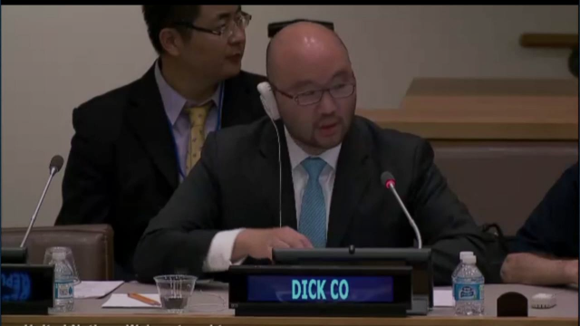 Dick Co Speaking at the United Nations
