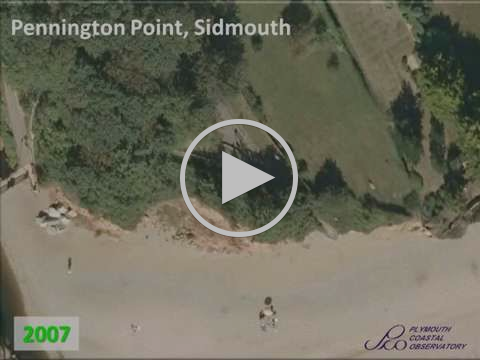 Sidmouth Cliff Recession 2007-2015
