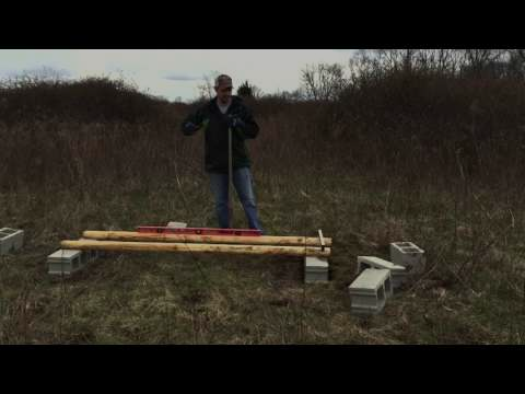 How to place honey bee hive stands