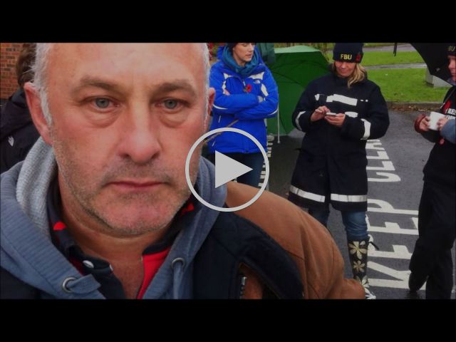 """""""We have to make a stand"""" - a film about the 2014 Fire Brigades Union (FBU) strike"""