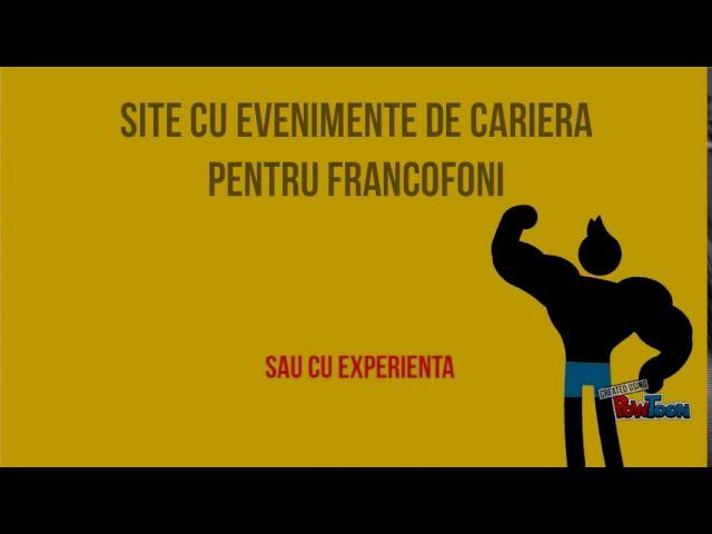 Evenimente de cariera pentru francofoni