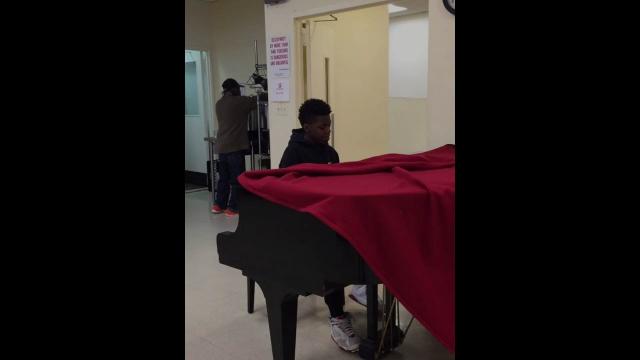 Jowen Playing at Hamilton Senior Center