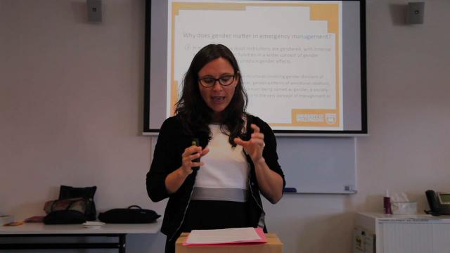 Christine Eriksen - Gender and Disaster Training Day
