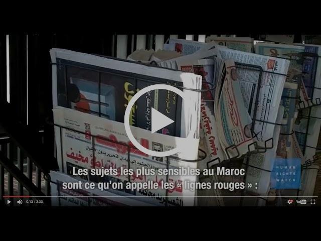 """Maroc : Des """"lignes rouges"""" relatives à la liberté d'expression"""
