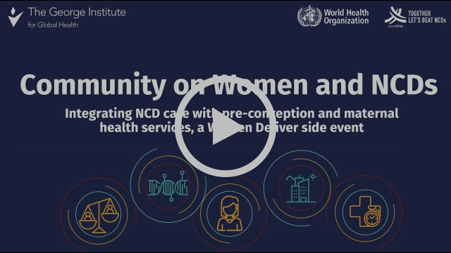 Integrating NCD Care Into Pre-Conception and Maternal Health Services Webinar Recording