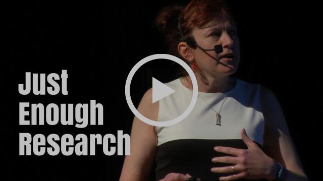 Just Enough Research / Erika Hall - UX Salon 2016