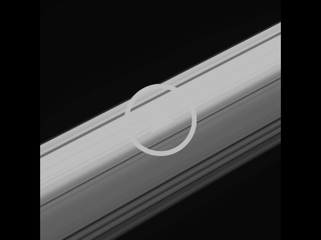 Saturn's Rings Seen From Inside Looking Out