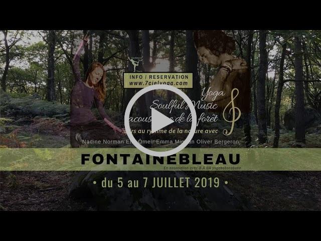 """""""Yoga & Soulful Music // acoustique de la foret Fontainebleau"""" avec Nadine Norman et Elie Ômeir,"""