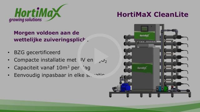 BZG gecertificeerde waterzuivering installatie HortiMaX CleanLite