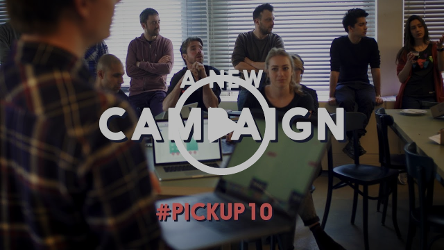 Building the new Pick Up 10 campaing with Hike One and de Voorhoeden