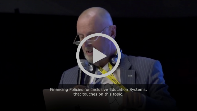 Frame from video of Cor J.W. Meijer at UNESCO's Forum on Inclusion and Equity in Education