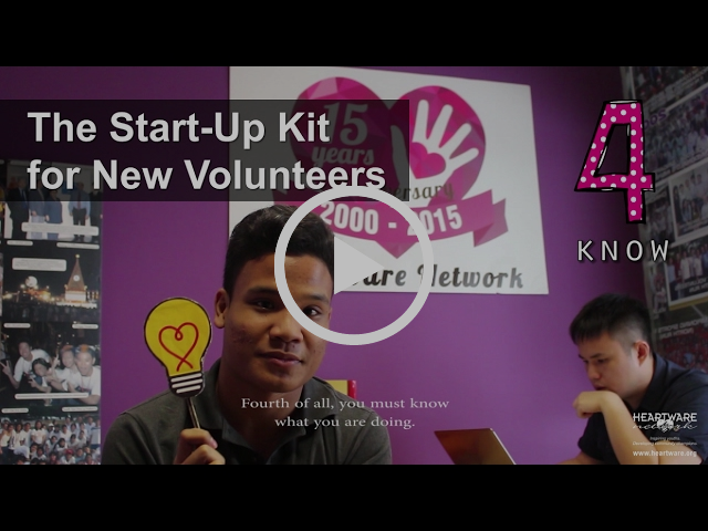 HWN Connects: Start-Up Kit for New Volunteers