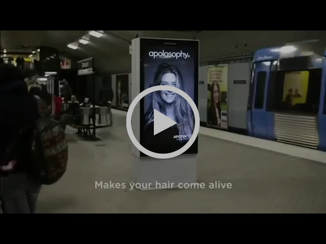 Apotek | Hair-Raising Subway Ad | Wind Train Arrives | Swedish Pharmacy Commercial Trains Billboard