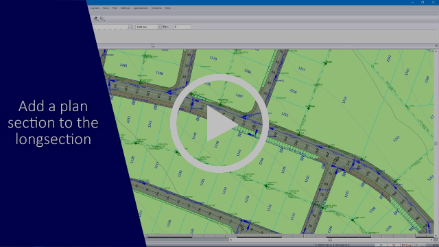 Civil Designer Software: Combined Longsections