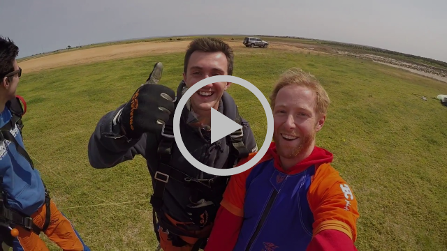 Tandem Angle Skydiving - The Superman Skydive
