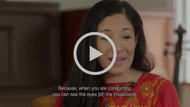 Meet Paula Nava Madrigal, a Latina conductor who's breaking boundaries: