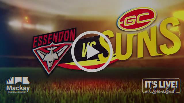 AFL pre-season challenge Gold Coast SUNS vs Essendon