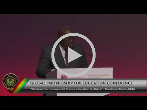 President Akufo Addo's remarks at the Global Partnership for Education Conference