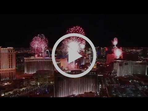 Las Vegas, America Fireworks 2017 - New Year's Eve Fireworks
