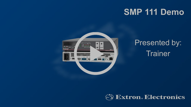 Extron Demo RTMP SMP 111