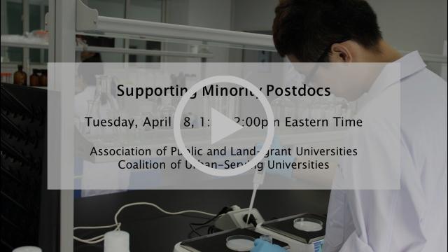 Supporting Minority Postdocs