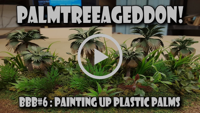 Terrain Tutor BBB#6 - Repainting Cheap Plastic Palm Trees!