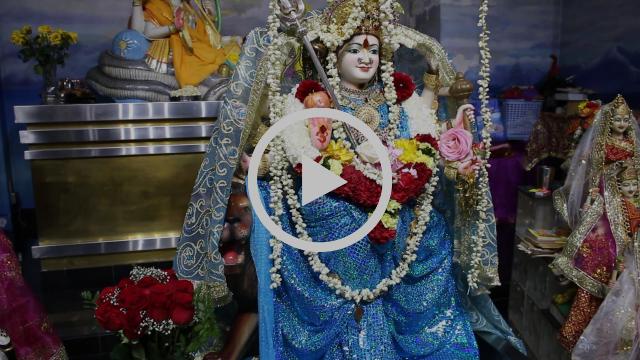 Navratri Day 1 Vishnu Mandir Richmond Hill Ontario Canada