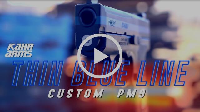 Kahr Custom PM9 Thin Blue Line