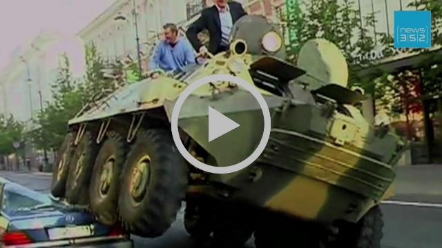 Mit Panzer gegen Falschparker in Vilnius