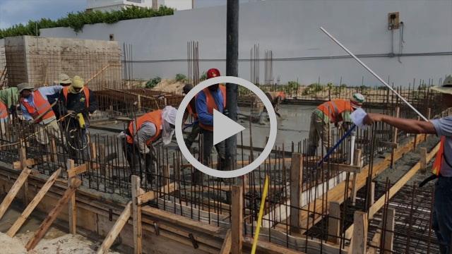 Concrete Foundation Pour for Villa C