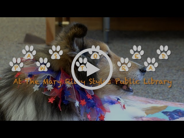 Paws to Read at Mary Riley Styles Library