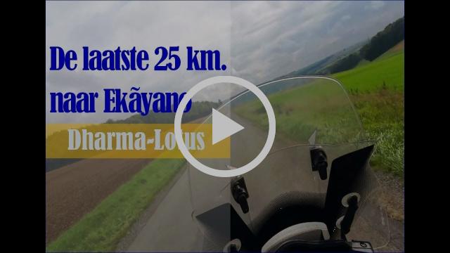 De laatste 25 km. naar Ekãyano in 4 minuten