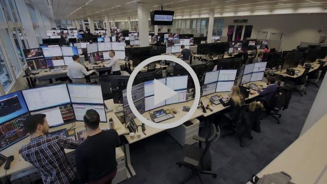 EIZO-Monitore als Stars im Trading Floor