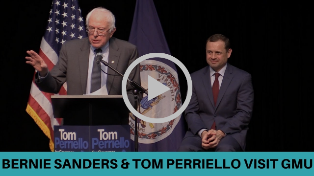 Sen. Bernie Sanders Endorses Tom Perriello at GMU Fairfax, VA